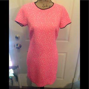 EUC Banana Republic Hot Pink Short Sleeve Midi
